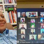 Romo Maxi Un Bria, Ketua Komisi Kerasulan Awam Keuskupan Agung Kupang dan peserta webinar