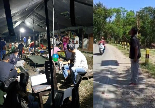 Posko dapur umum dinas sosial di Kelurahan Babau, diprotes warga korban bencana karena merasa dicurangi. (yandry/kupangterkini.com)