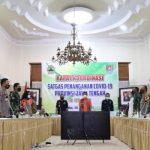 Suasana rapat koordinasi satgas penanganan covid-19, di kantor bupati, Cilacap, Jawa Tengah. (BNPB)