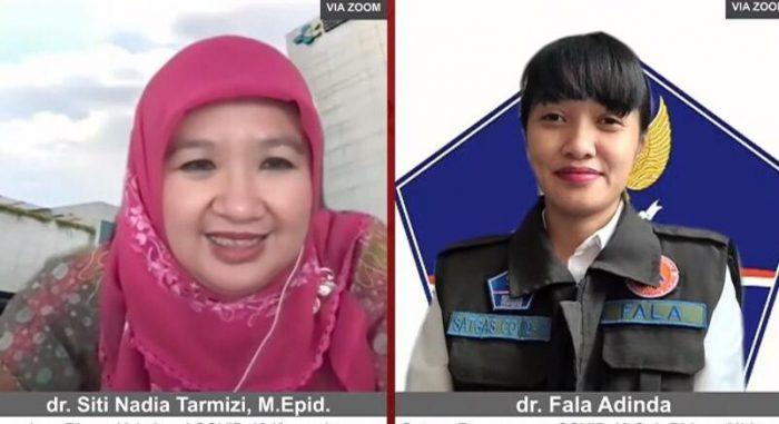 dr. Siti Nadia Tarmizi M.Epid, Juru Bicara Vaksinasi Covid-19 Kementerian Kesehatan dr. Fala Adinda, Anggota Satgas Penanganan Covid-19 Subbidang Mitigasi