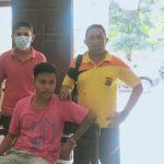 Pelaku tindak kekerasan, Guido Candra Lanang, saat diamankan di Polsek Kupang Tengah (ist)