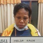 Polsek Densel amankan Melda Kause, ibu dari bayi yang dibuang di semak belukar, pekan lalu. (ist)
