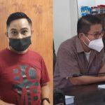 Elman Risandi Fanggidae, PTT pada dinas Pariwisata Serta Telendmark Daud, ketua pansus DPRD (yandry/kupangterkini.com)