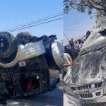Kondisi mobil yang mengalami kecelakaan di depan SMA Advend Kupang Tengah. (yandry/kupangterkini.com)