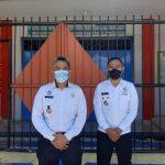 Rizal Fuady, kepala rutan kelas IIB Kupang bersama kepala keamanan rutan, Roq Osingmahi (yandry/kupangterkini.com)
