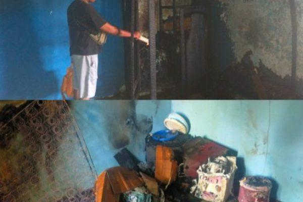 Perabot rumah tangga korban yang ludes terbakar ( ist)
