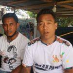 Pengurus Muaythai NTT, Fence Ferdinand (kiri) bersama pelatih Muaythai, Angga Silitonga (ist)