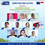 Para narasumber dalam webinar from black to green energy in Indonesia and EU