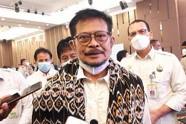 Mentri Pertanian, Syahrul Yasin Limpo dalam acara rakernas badan karantina pertanian (yandry/kupangterkini.com)
